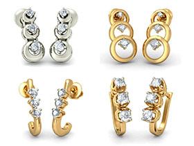 3 Stone Earrings