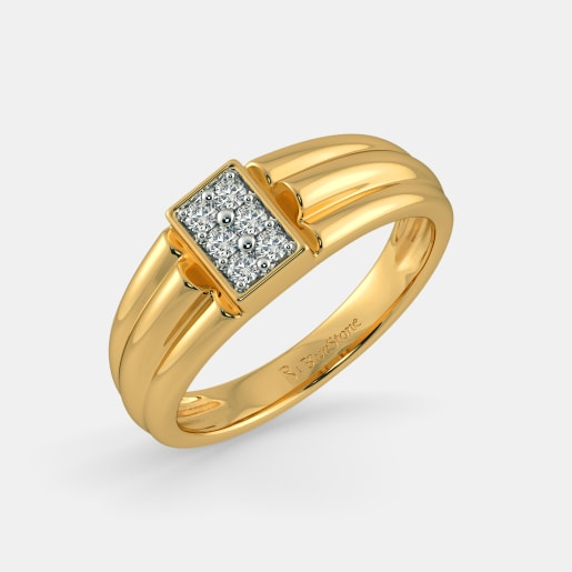 Buy 50 Mens Gold Engagement Ring Designs Online in India 2018
