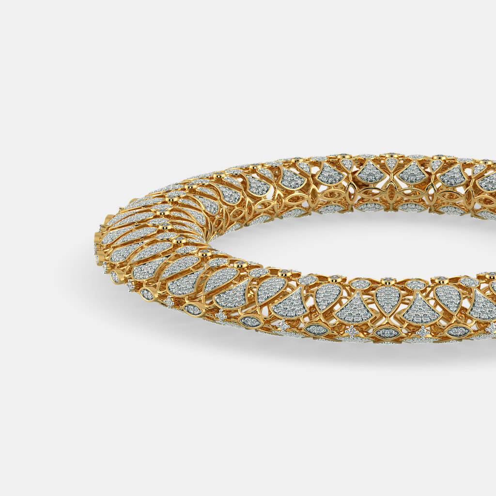 bangle yellow penny box gold thin product pav diamond bracelet and bangles preville tiny diamonds jewel