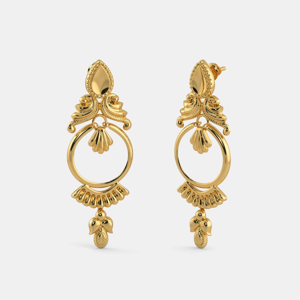 Blue Stone Earrings Drop Image Of Earring