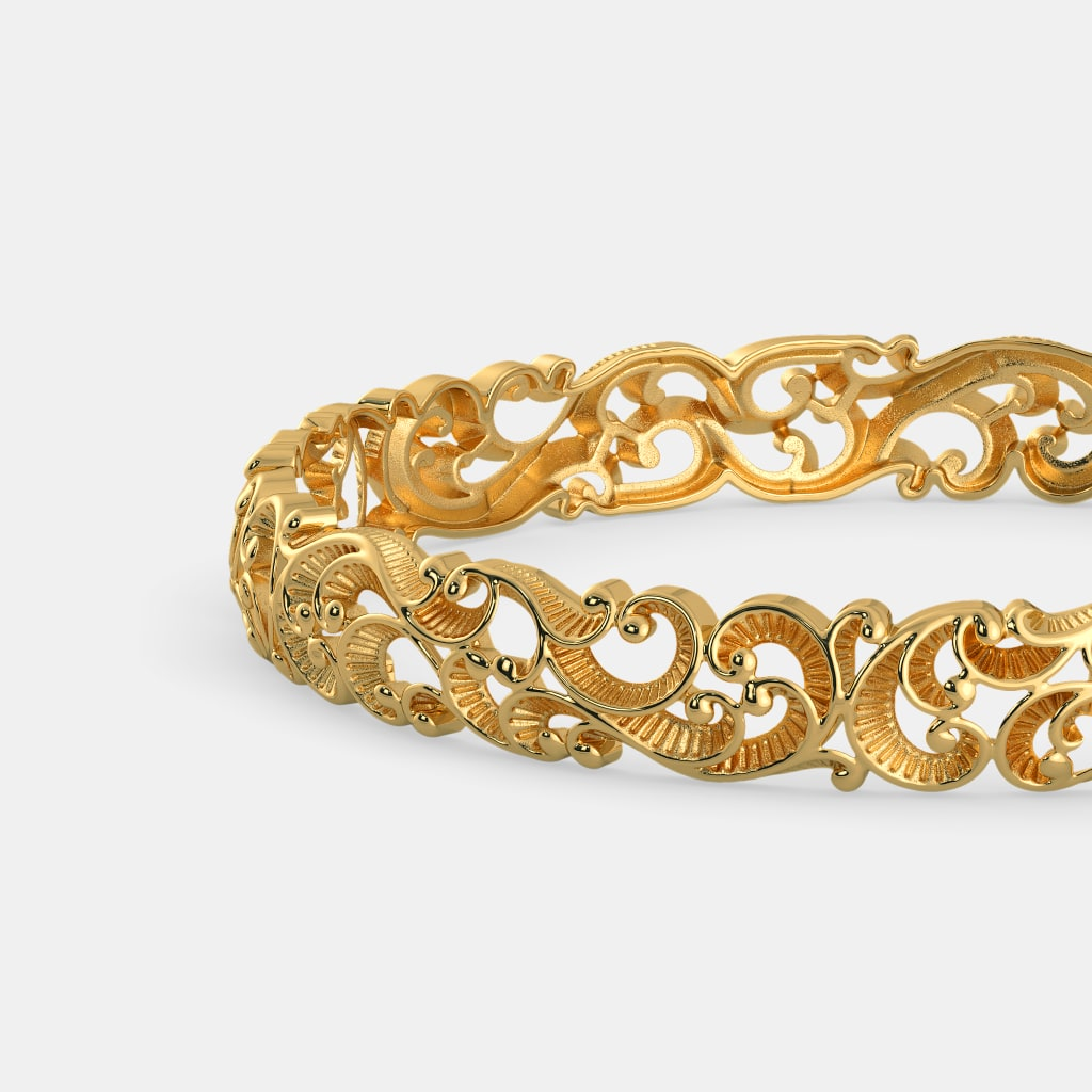 Buy 50+ Gold Light Weight Jewellery Bangle Designs Online in India ...