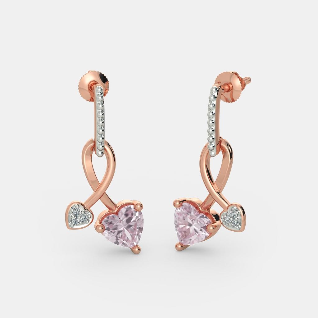 The Dona Rose Quartz Earrings