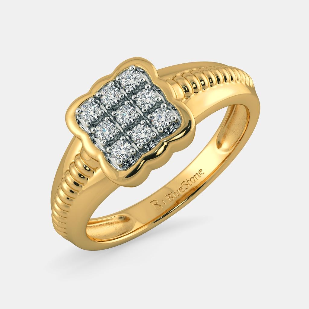 Buy 50+ Men\'s Diamond Ring Designs Online in India 2018 | BlueStone