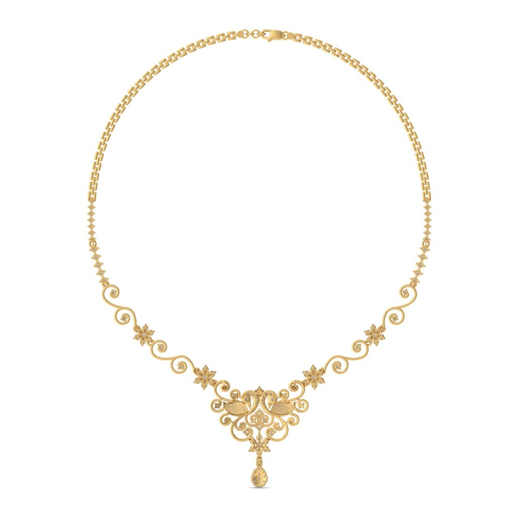The lavanya mayuri necklace bluestone the lavanya mayuri necklaceback aloadofball Image collections