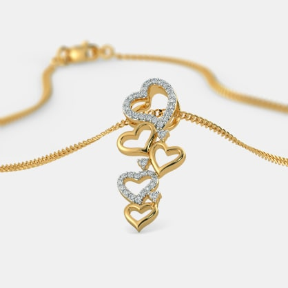 The Trail Of Hearts Pendant