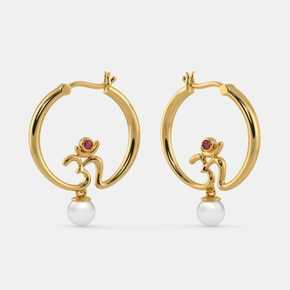 The Crescent Hoop Earrings