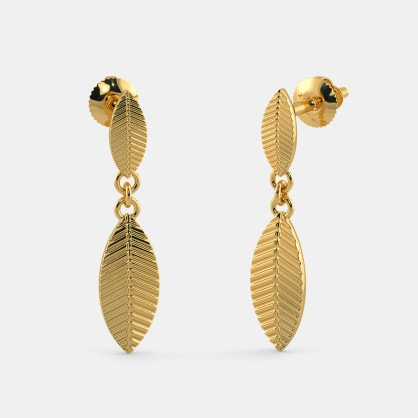The Alluring Leaf Drop Earrings