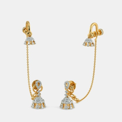 The Katylyn Stud Chain Clips Earrings