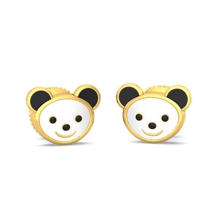 The Kiddie Panda Earrings For Kids