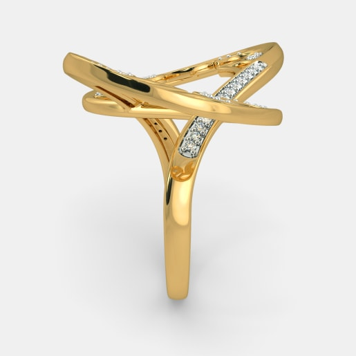 Diamond Ring In Yellow Gold (7.18 Gram) With Diamonds (0.198 Ct)