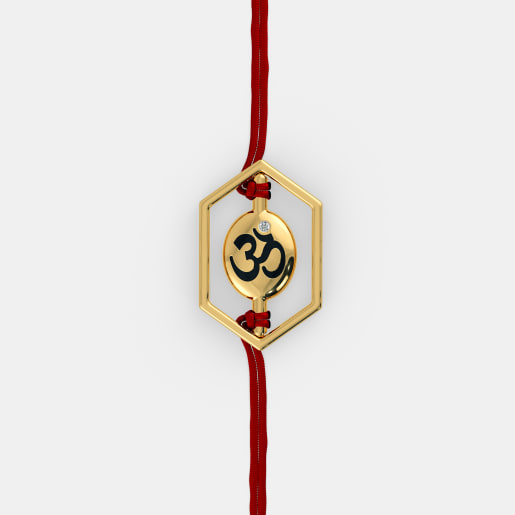 The Om Swastik Rakhi Pendant