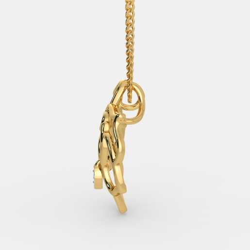 Diamond Pendant In Yellow Gold (1.72 Gram) With Diamonds (0.010 Ct)