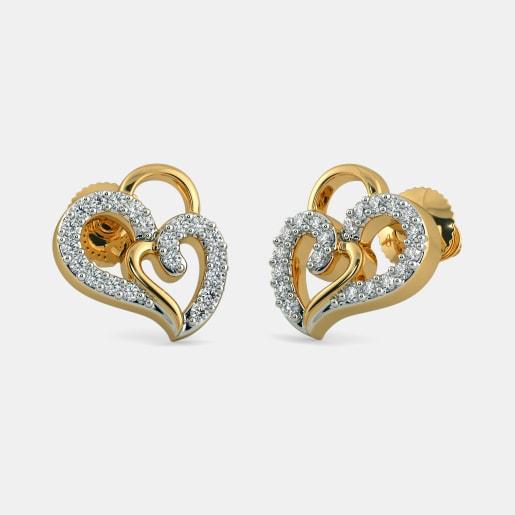 The Heart In Heart Earrings