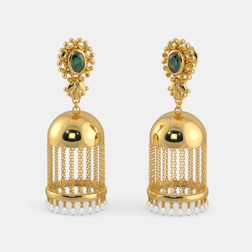 peghra earrings india in jewellery buy pics earring gold the online designs jhumka bluestone
