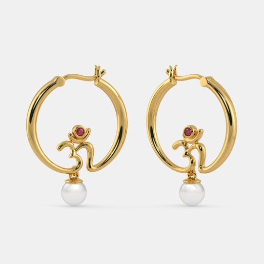 The Crescent Hoop Earrings