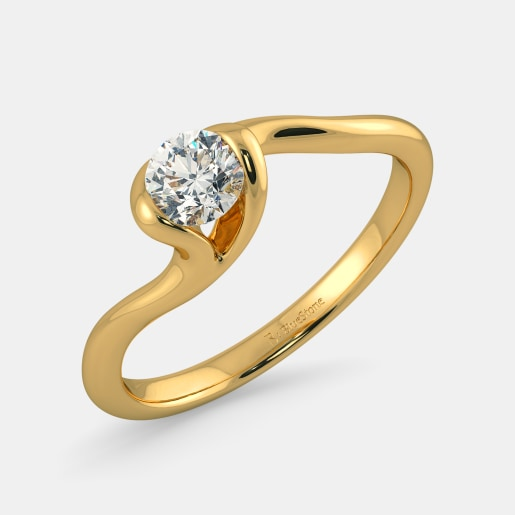 PreSet Solitaire Ring In Yellow Gold (2.71 Gram)