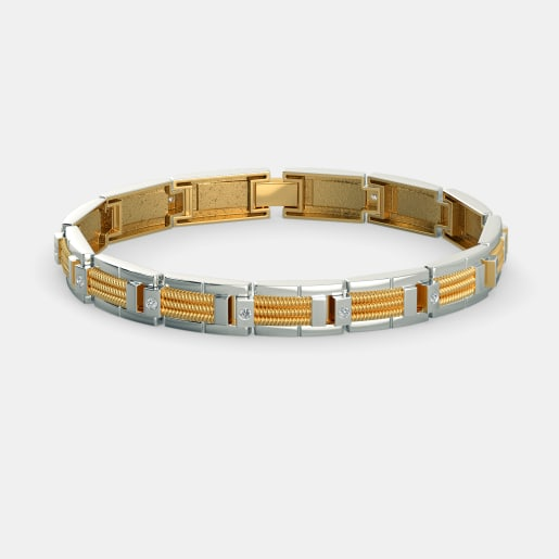 Buy Men s Diamond Bracelet Designs line in India 2018