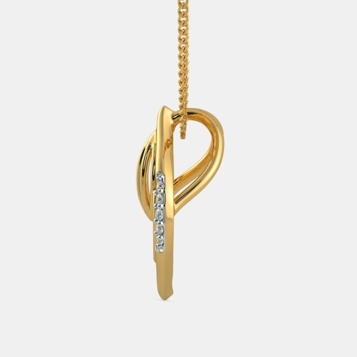 Diamond Pendant In Yellow Gold (0.92 Gram)