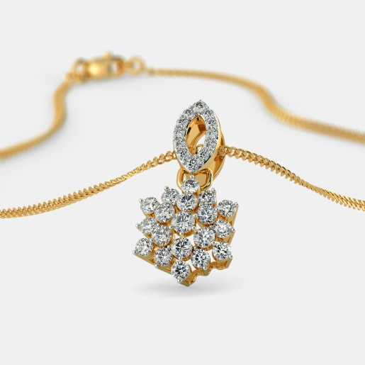 Buy gold wedding pendant designs online in india 2018 bluestone the schnapps pendant mozeypictures Images