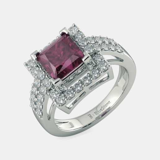 and pink reuven art inspired deco jewellery rings cocktail tourmaline ring product diamond