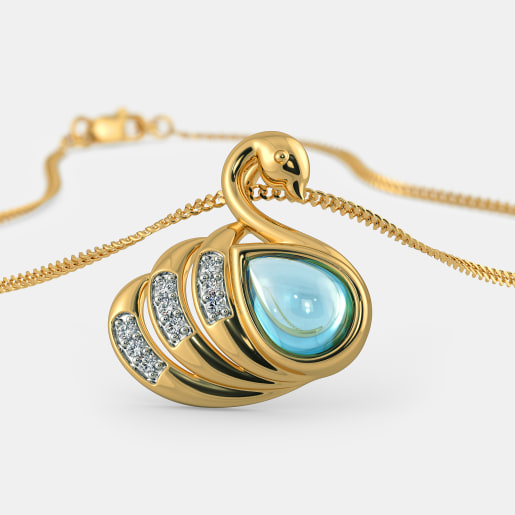 The Courtly Cygnet Pendant For Kids