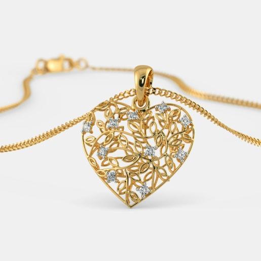 Buy 650 diamond studded gold pendant designs online in india 2018 the amora pendant aloadofball Images