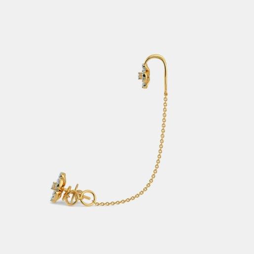 Diamond Earring In Yellow Gold (6 Gram) With Diamonds (0.526 Ct)