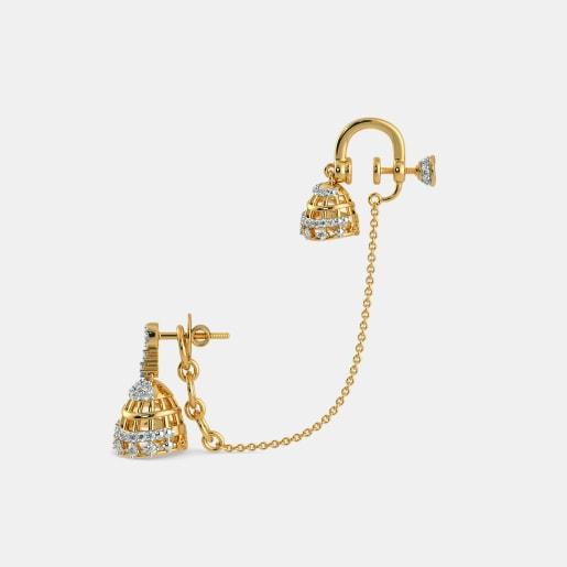 Diamond Earring In Yellow Gold (13 Gram) With Diamonds (0.952 Ct)