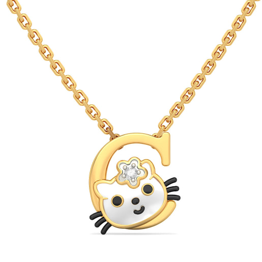 C for Cat Necklace for Kids