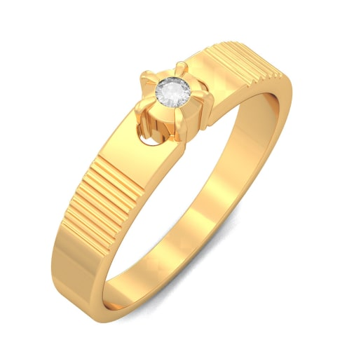 Diamond Ring In Yellow Gold (3.34 Gram) With Diamonds (0.040 Ct)