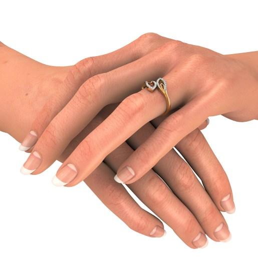 Diamond Ring In Yellow Gold (3 Gram) With Diamonds (0.188 Ct)