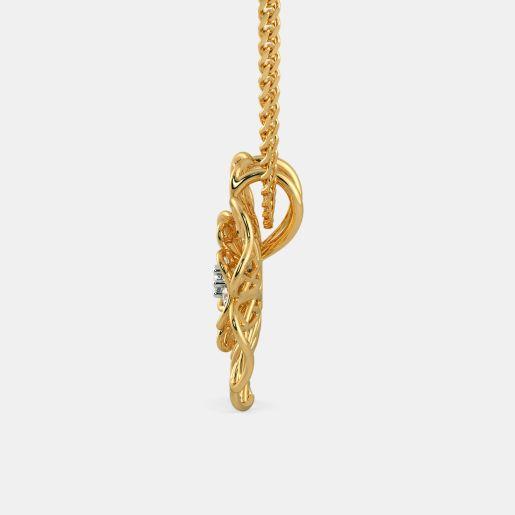 Diamond Pendant In Yellow Gold (1.71 Gram)