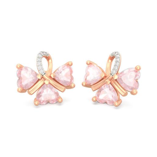 The Contessa Rose Quartz Earrings