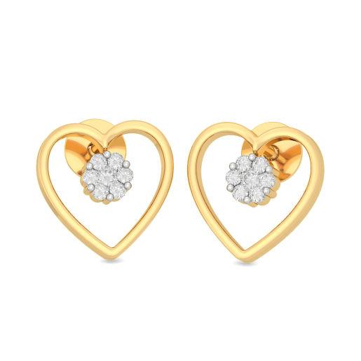 The Bridget Heart Stud Earrings
